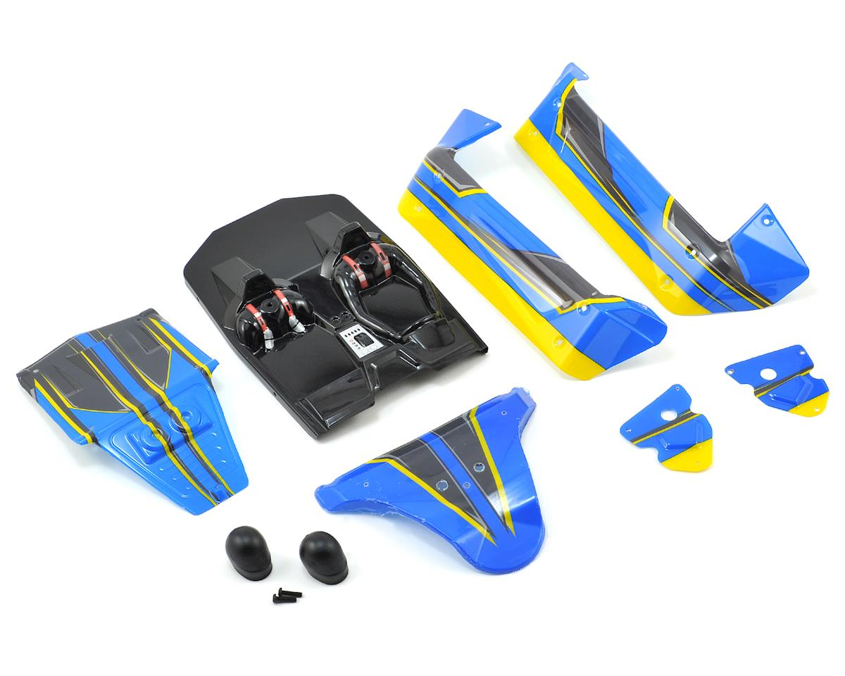 Losi Mini 8IGHT-DB Pre-Painted Body Set (Blue/Yellow)