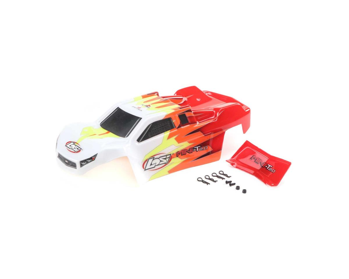 Losi Mini-T 2.0 Pre-Painted Body Set (Red/White)