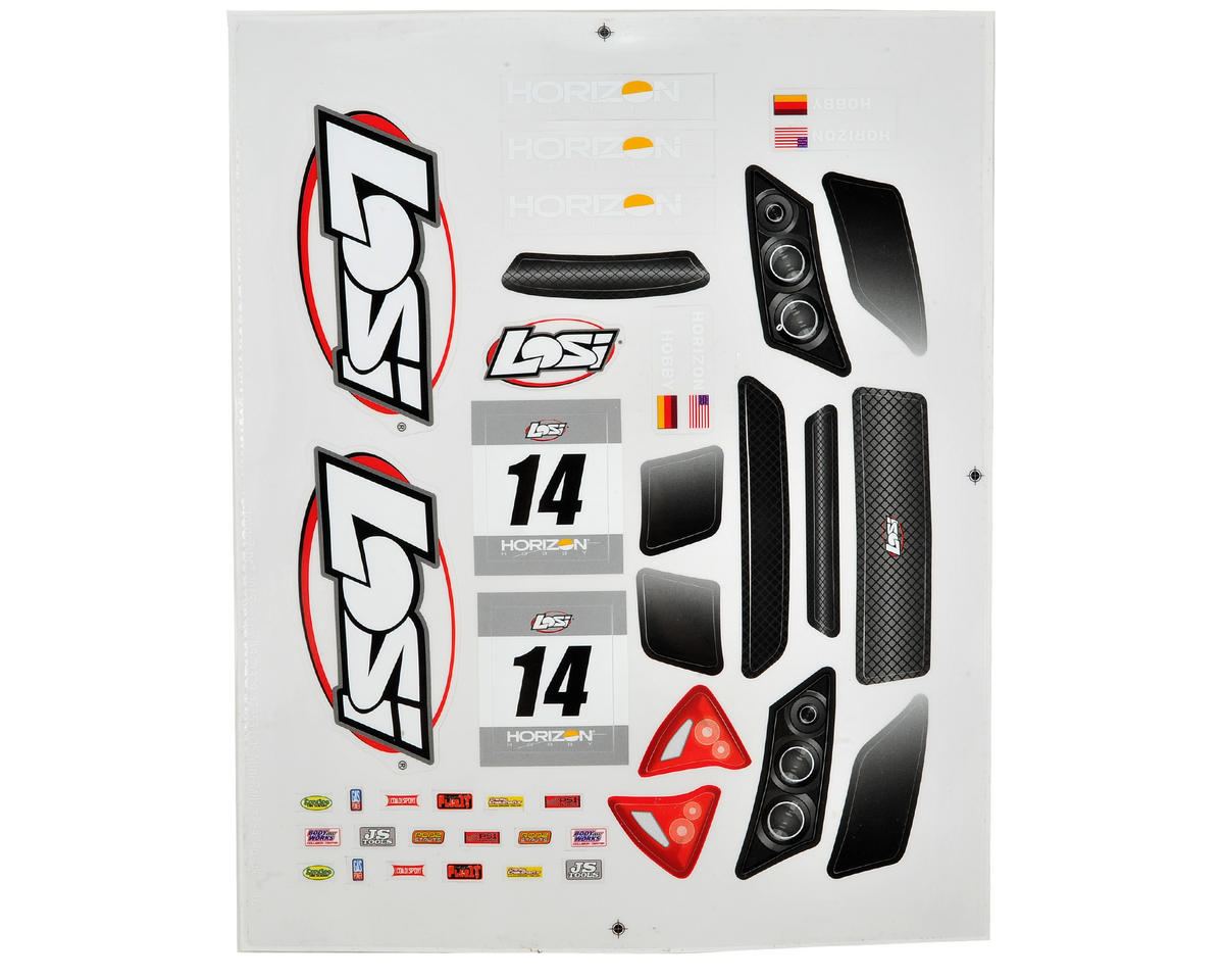 Mini Rally Sticker Sheet by Losi