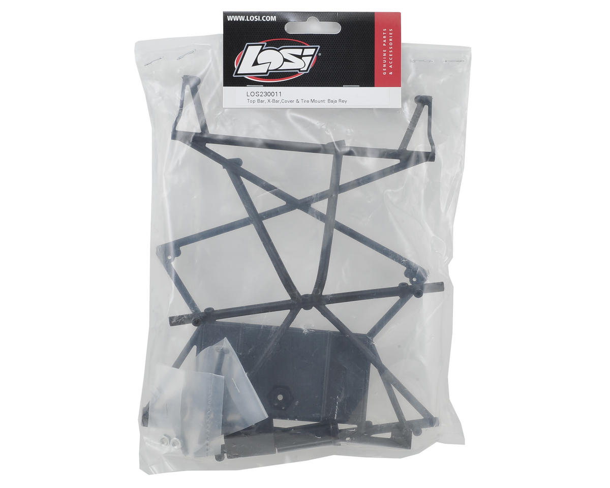 Losi Baja Rey Top Bar & Tire Mount