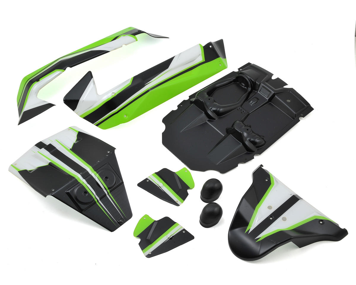 Losi TEN SCBE Pre-Painted Body Set (Green)