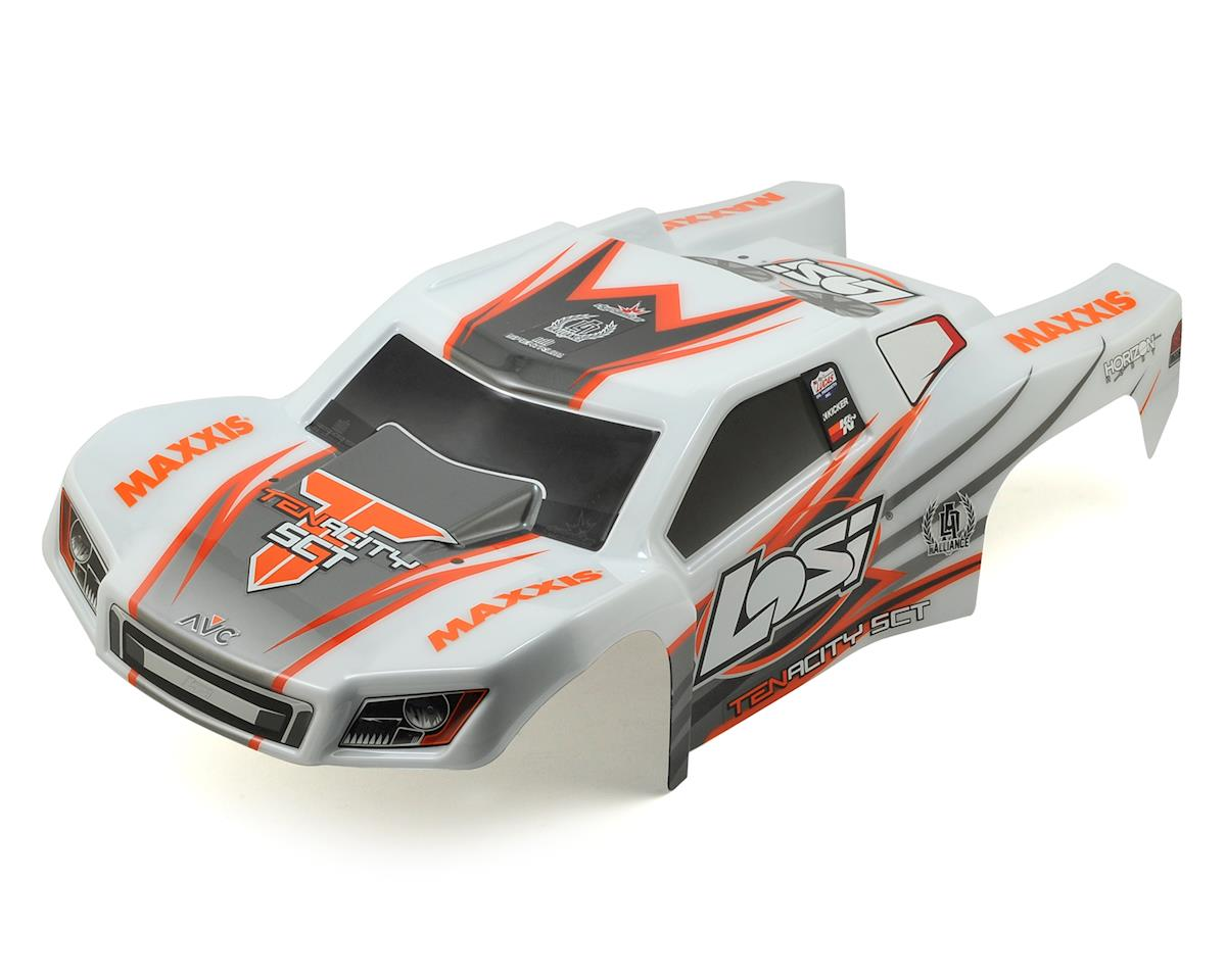 Losi Tenacity SCT Pre-Painted Body Set (White/Orange)