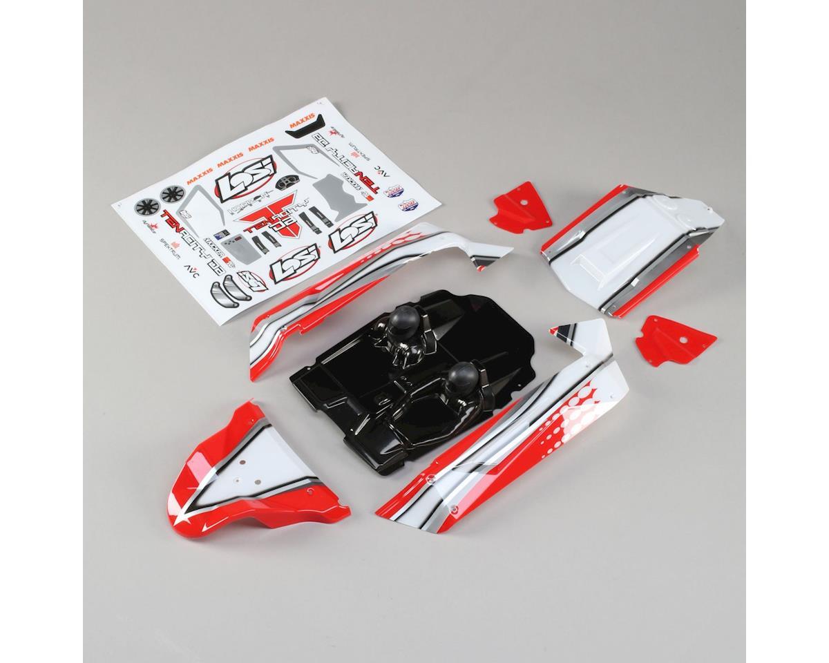 Losi TENACITY DB Body Set, Red: Tenacity Desert Buggy