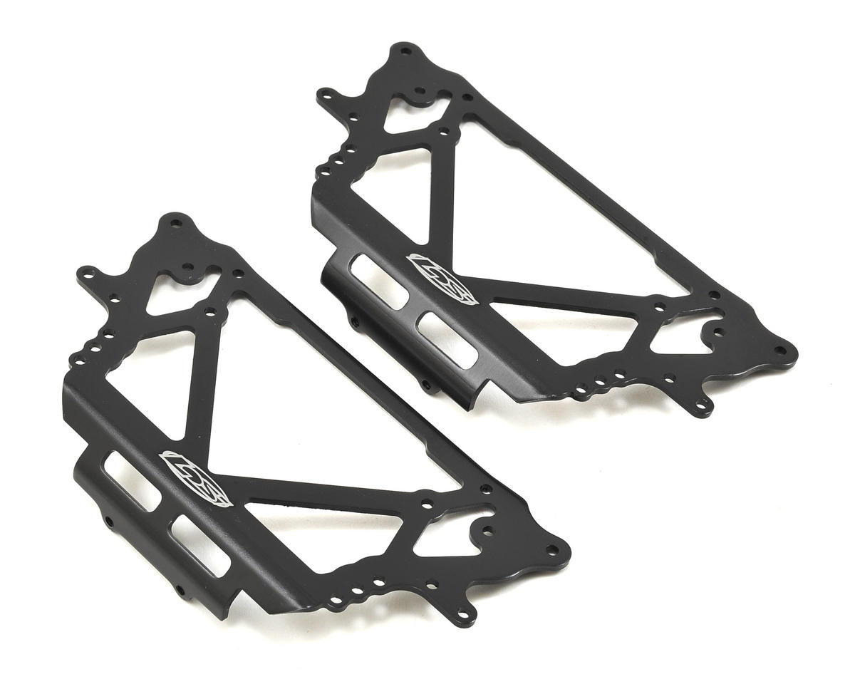 Losi Night Crawler 2.0 Chassis Side Plate Set (Black)