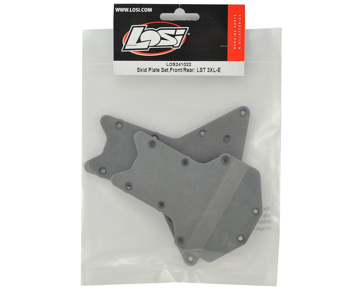 Losi Skid Plate Set,Front/Rear:  LST 3XL-E