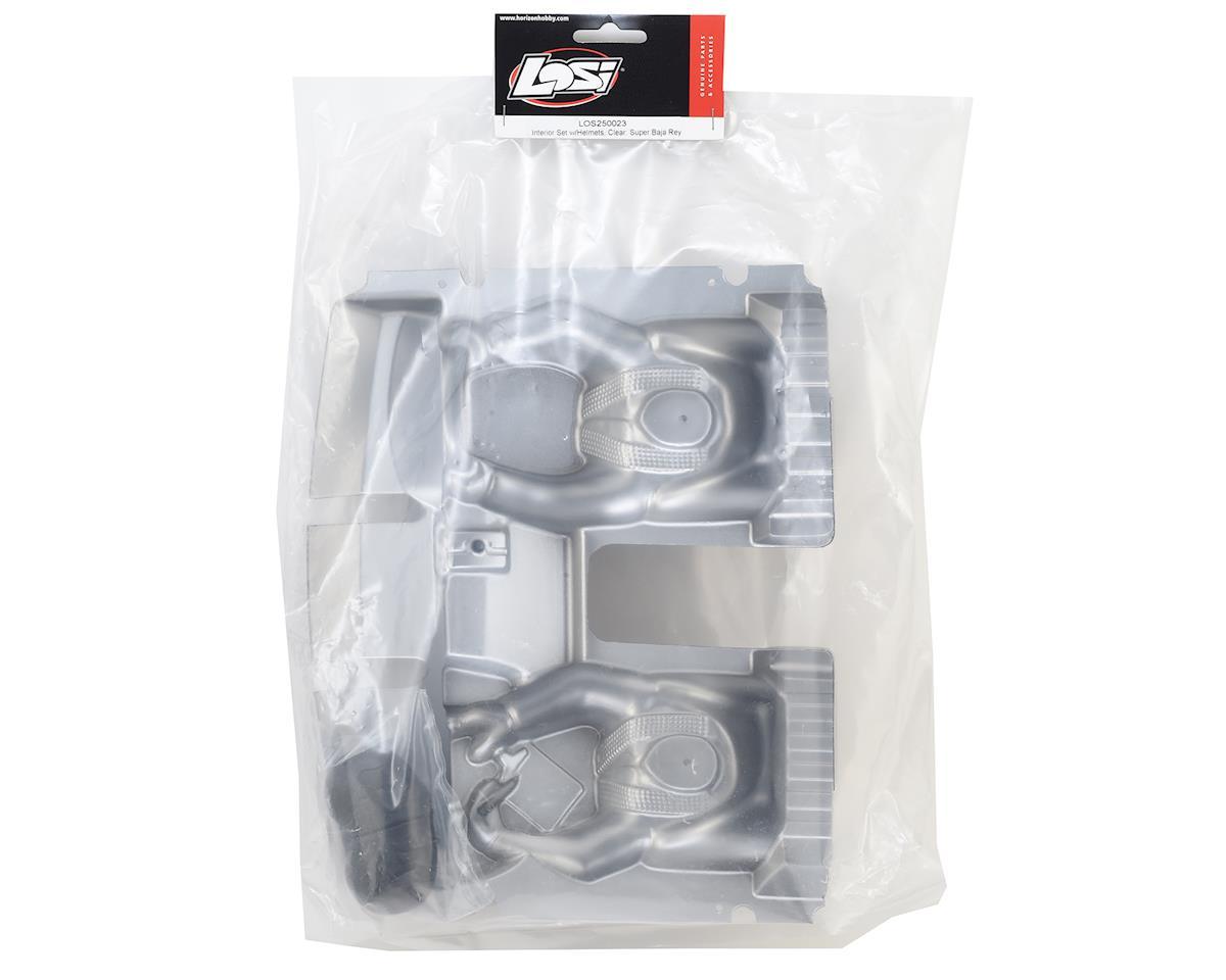 Losi Super Baja Rey Interior Set w/Helmets (Clear)