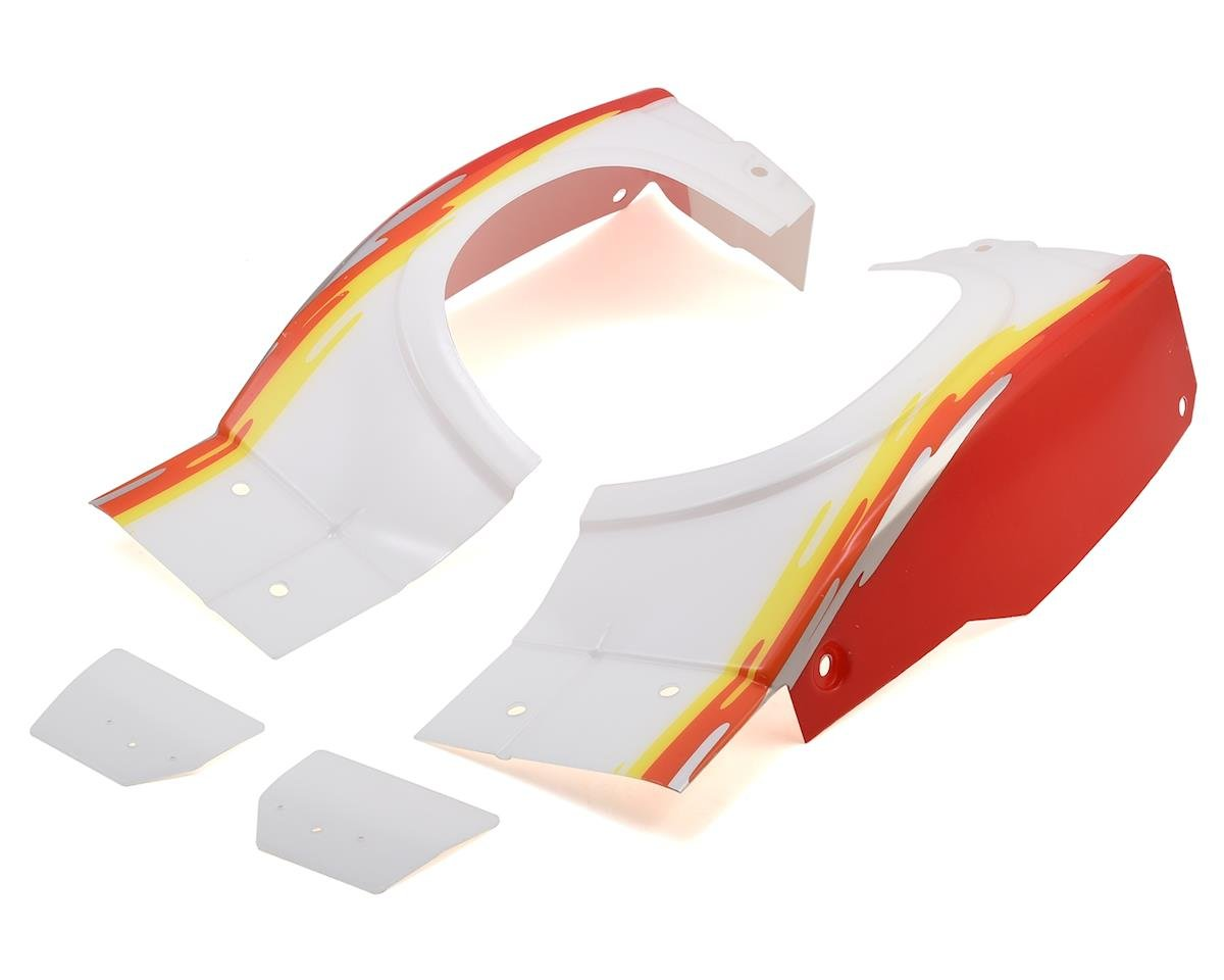 Losi Super Baja Rey Rear Fender Set (Red)