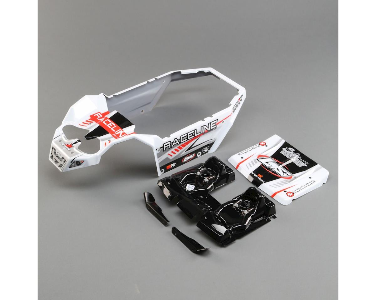 Losi Body Set, Raceline Wheels: SuperRockRey