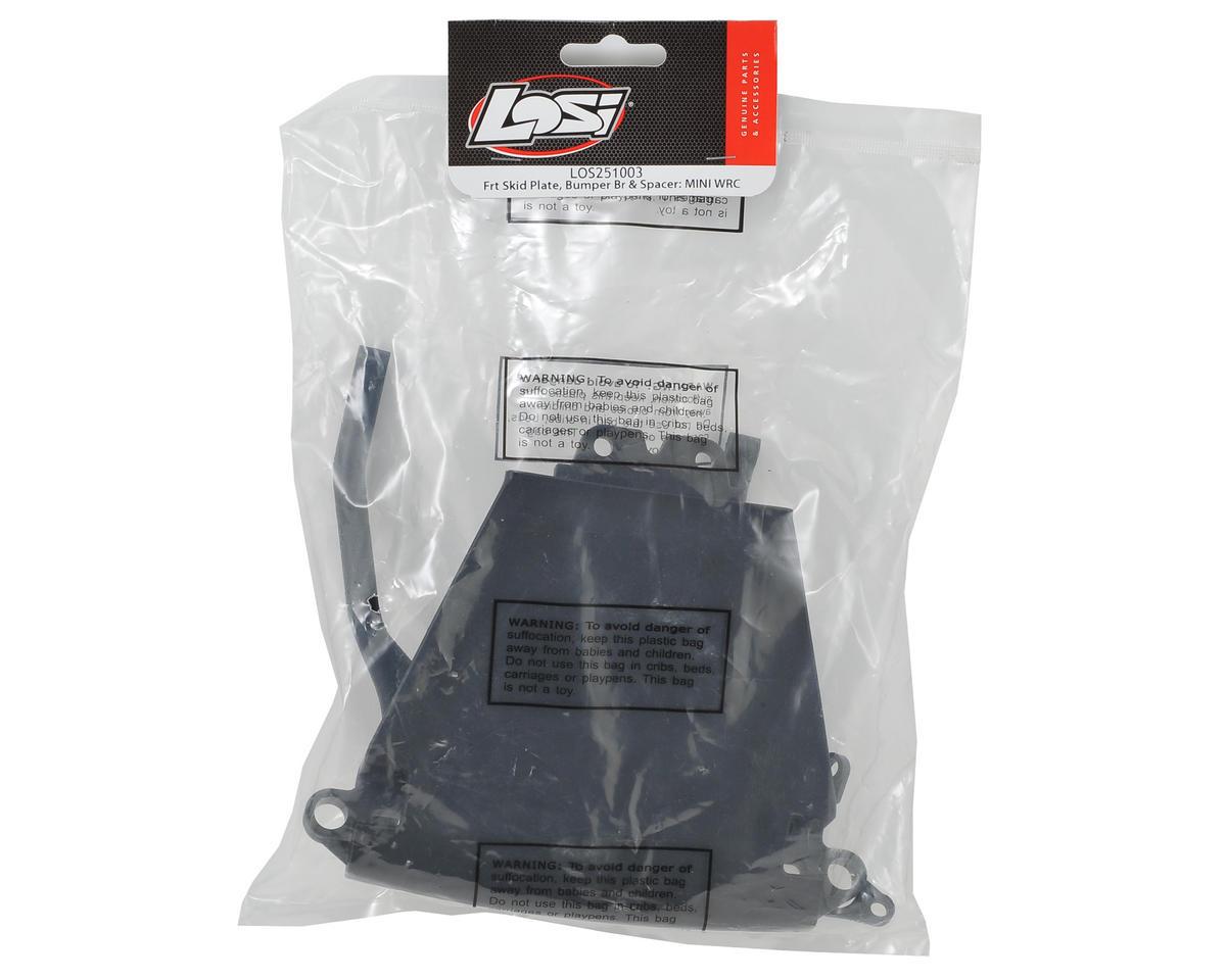 Losi Front Skid Plate & Bumper Brace Set