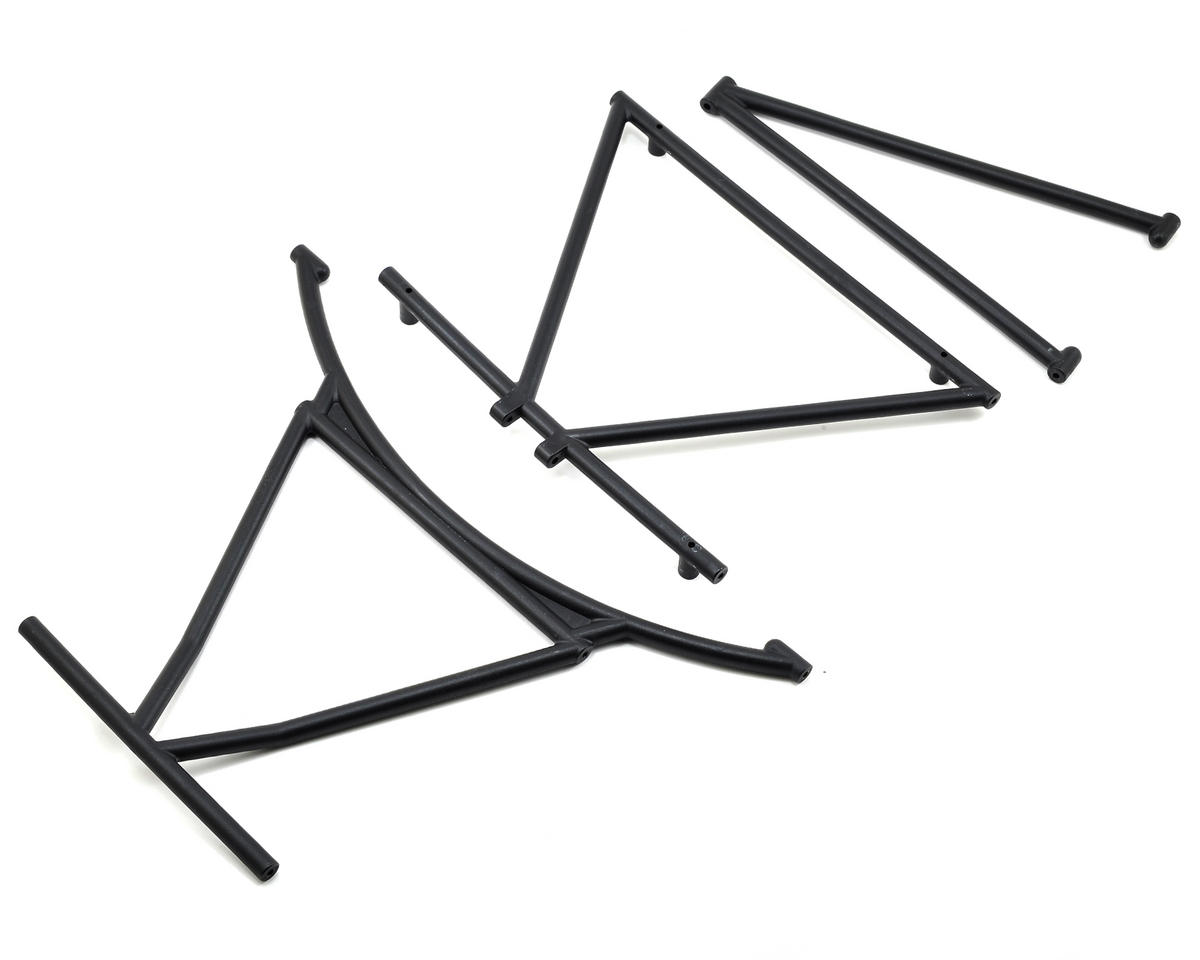 Front & Rear Cage Support Set w/Roof Cross Bar by Losi