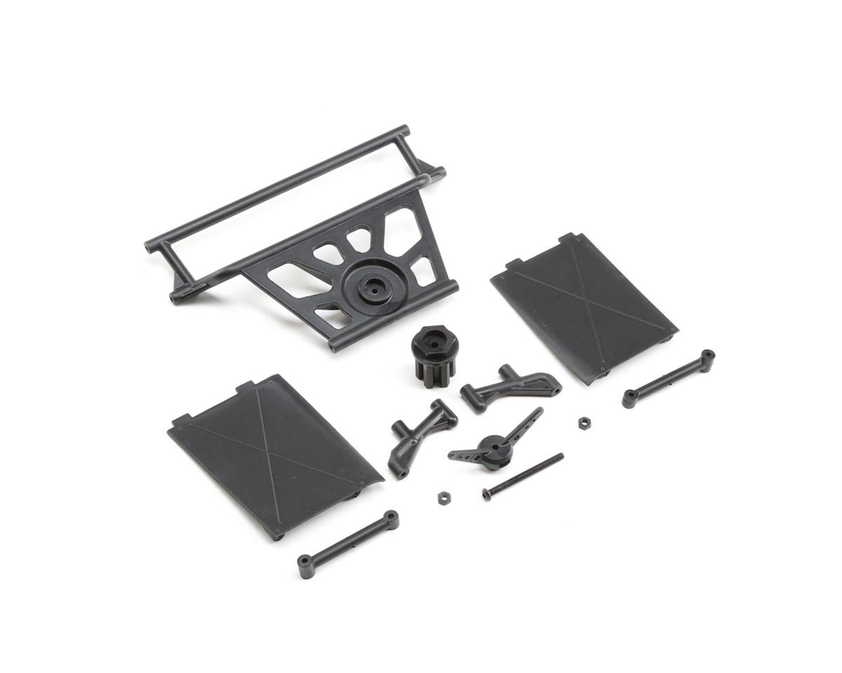 Losi Cage Rear, Tower Supports,Mud Guards: SuperRockRey