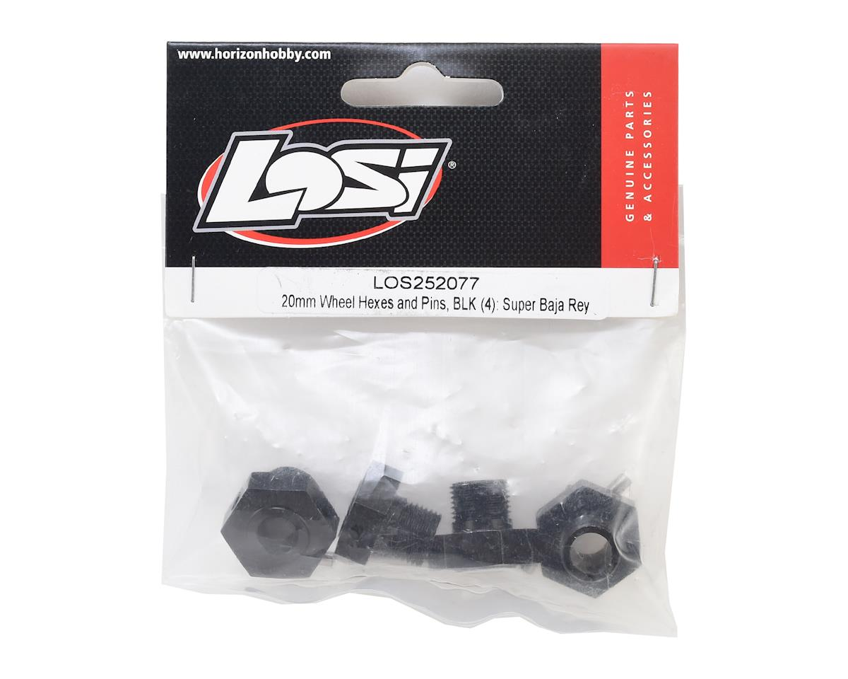 Losi Super Baja Rey 20mm Wheel Hexes & Pins (4)