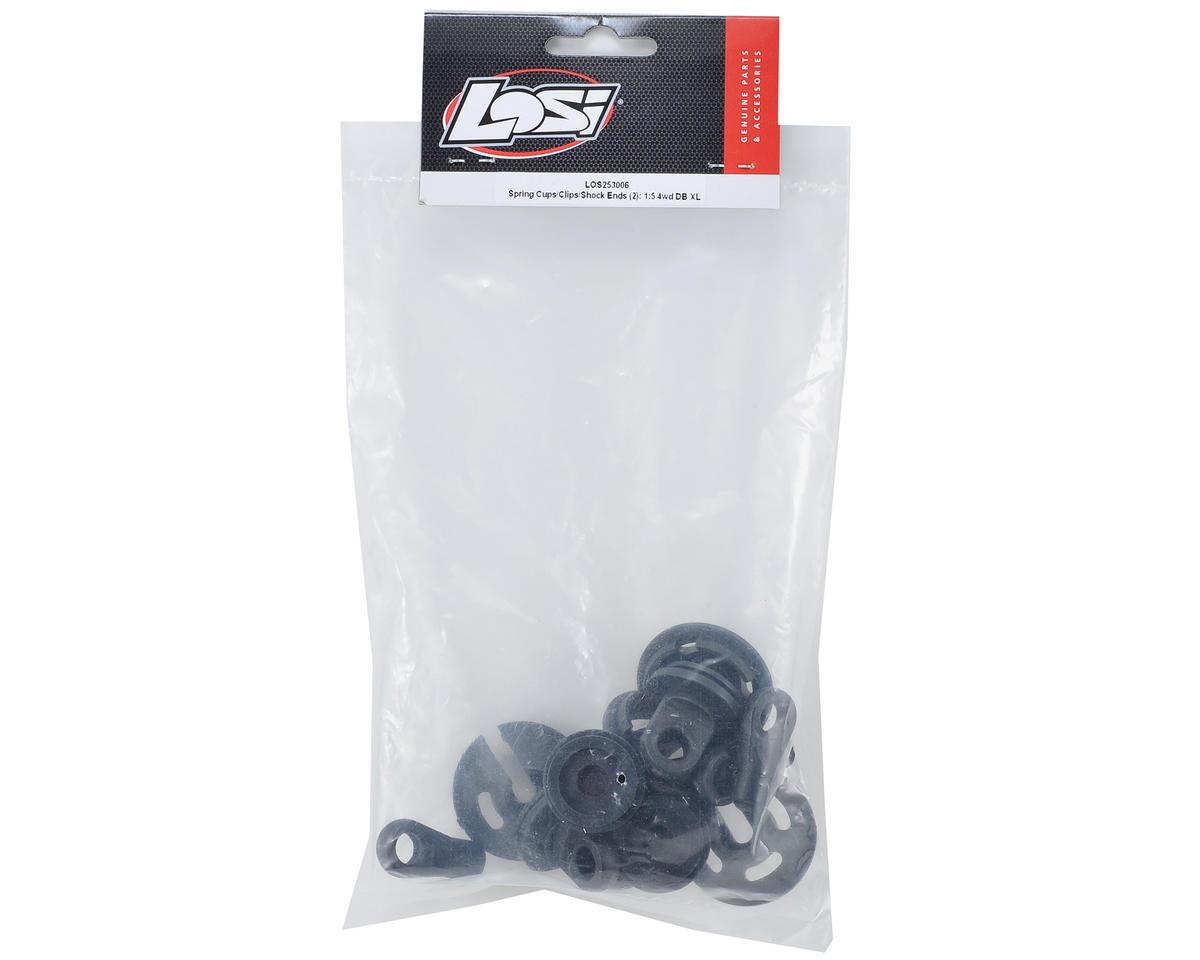 Losi Desert Buggy XL Shock Spring Cup, Clip & Shock End Set (2)