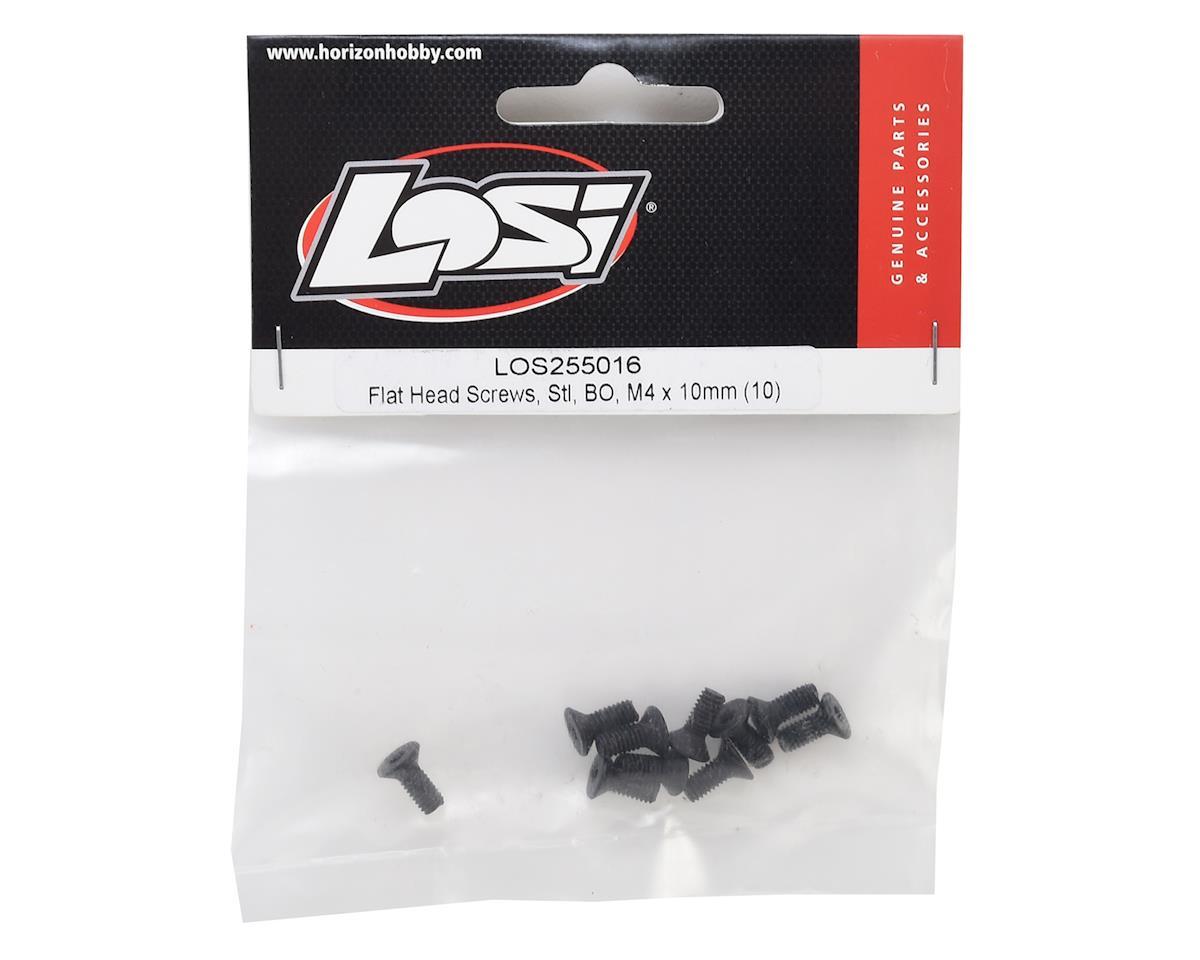 Losi 4x10mm Flat Head Hex Screws (10)