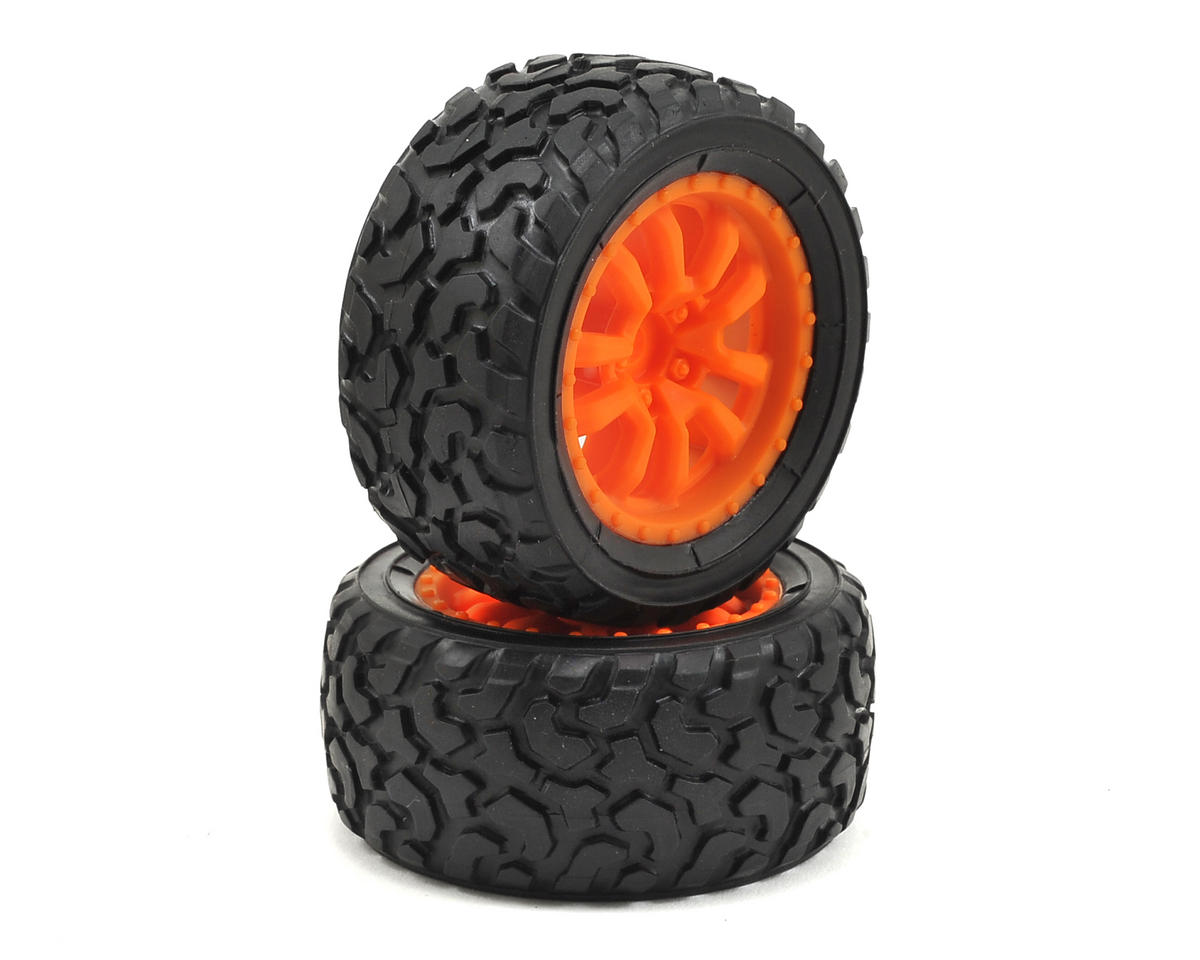 Losi Desert Truck Pre-Mounted Tire (Orange) (2)