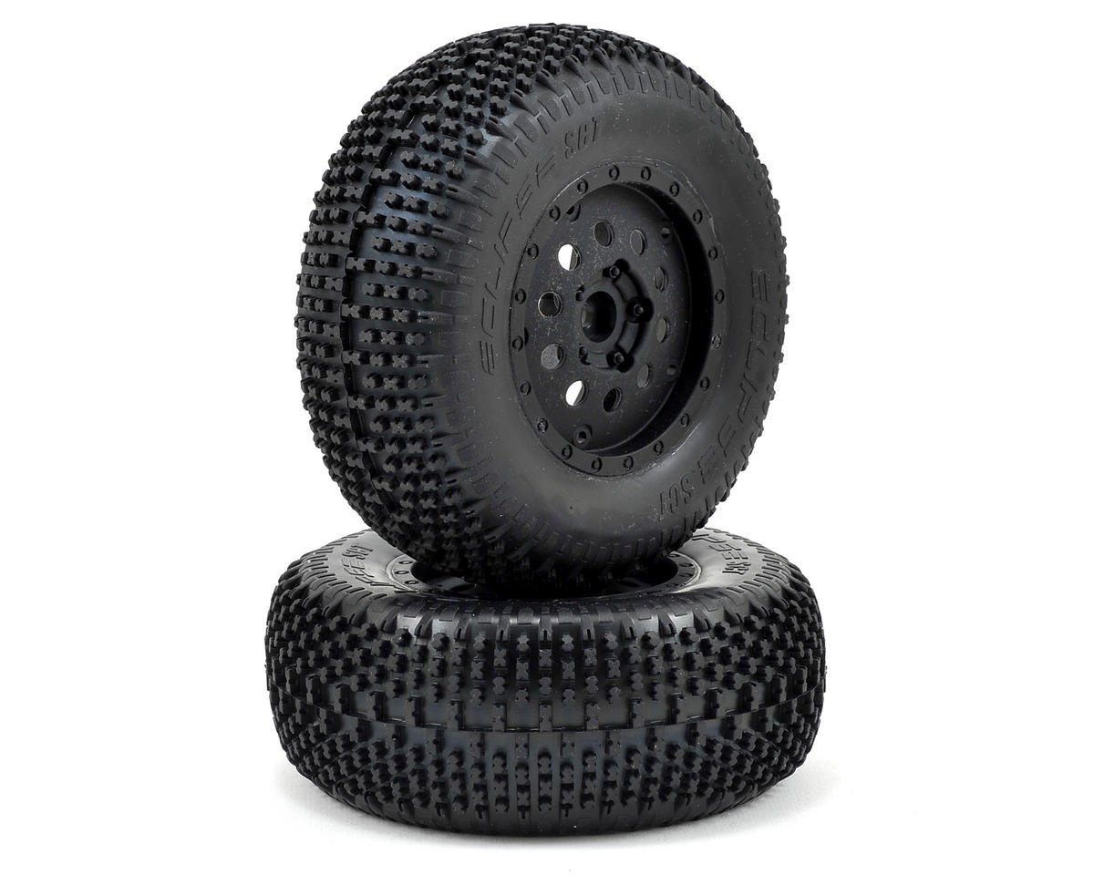 Pre-Mounted Front Eclipse Tire (Black) (2) by Losi