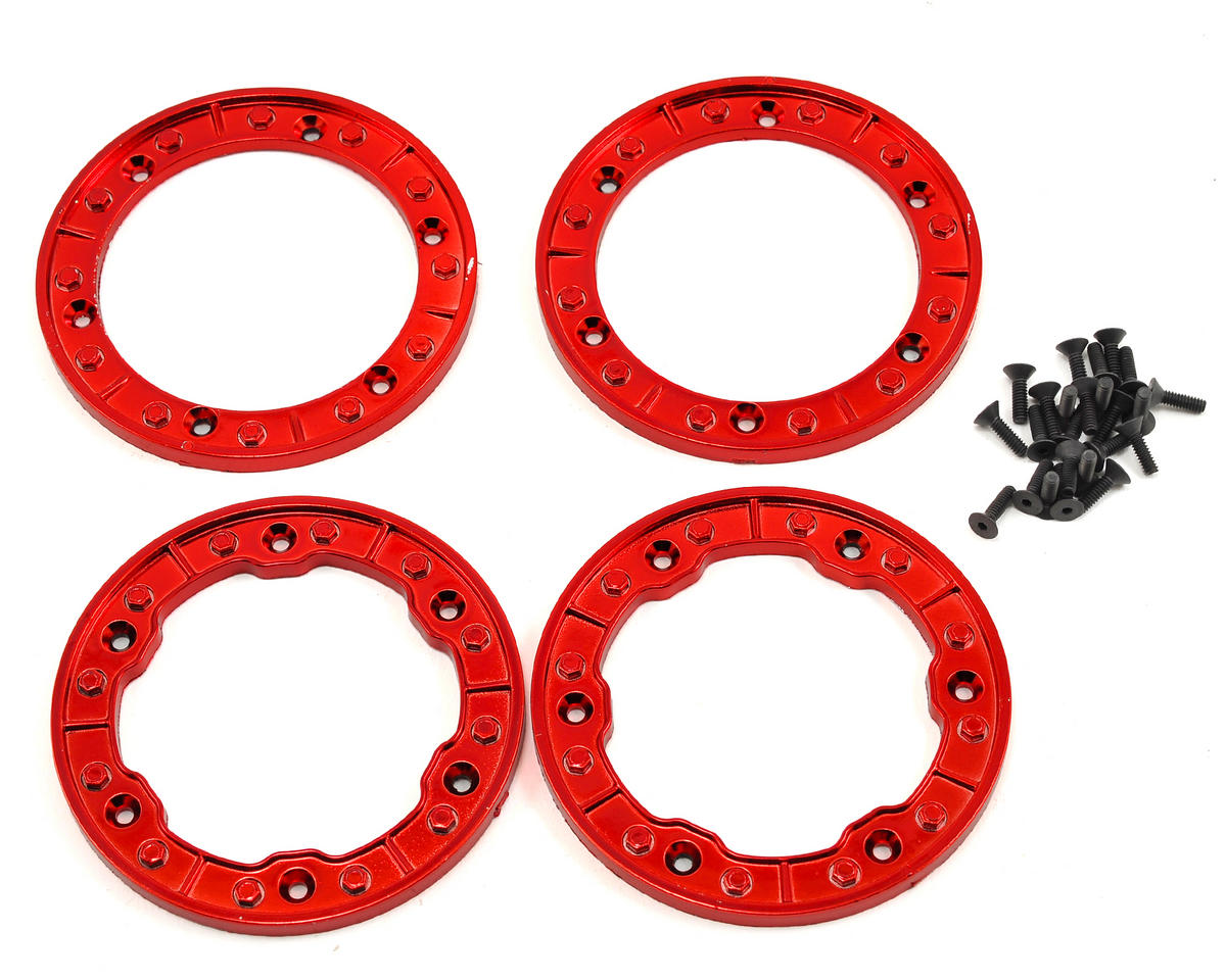 Losi Night Crawler 2.2 Beadlock Wheels w/Red Rings (2)