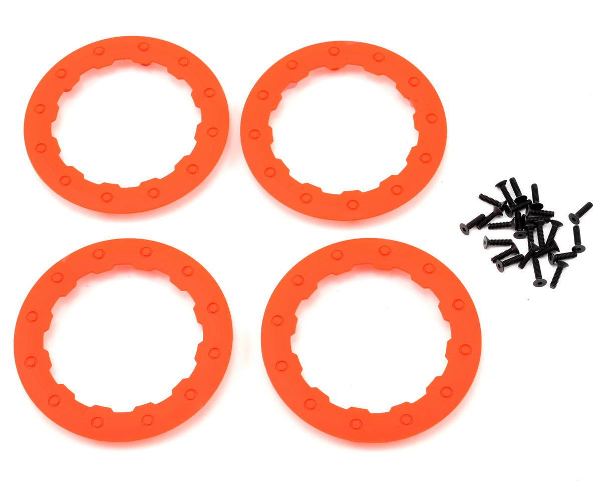 Beadlock Rings  (Orange) (4) by Losi
