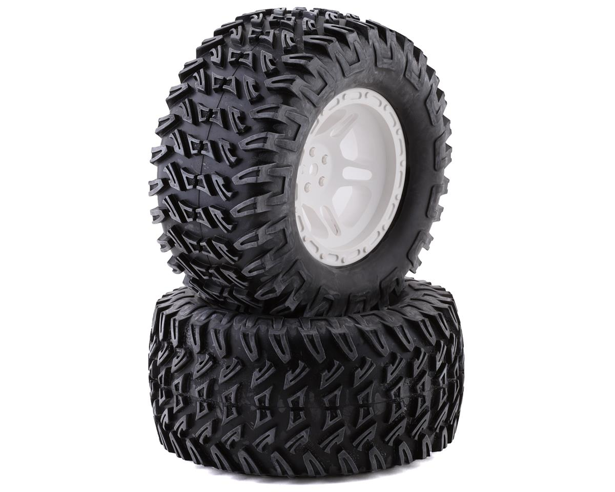 Losi Tires, Mounted White (2): TENACITY Monster Truck