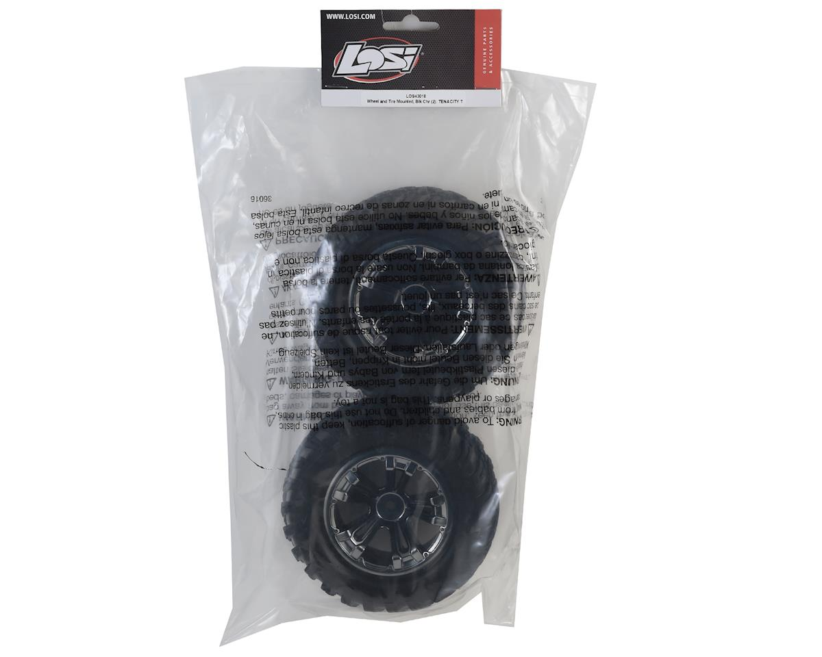 Losi 12mm Hex TENACITY T Pre-Mounted Truck Tire (Black Chrome) (2)