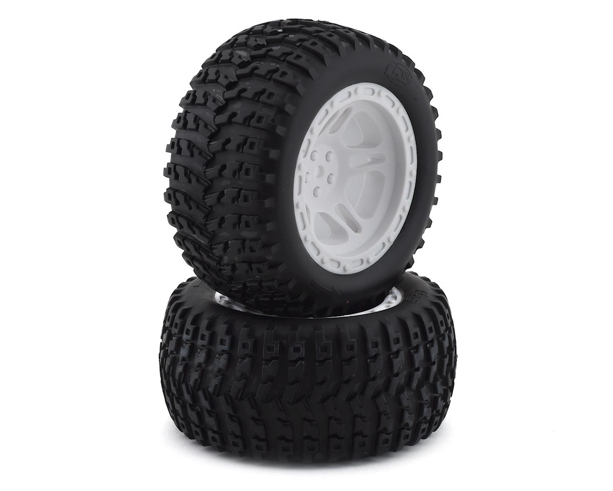 Losi 12mm Hex 22S ST Pre-Mounted Tires (White) (2)