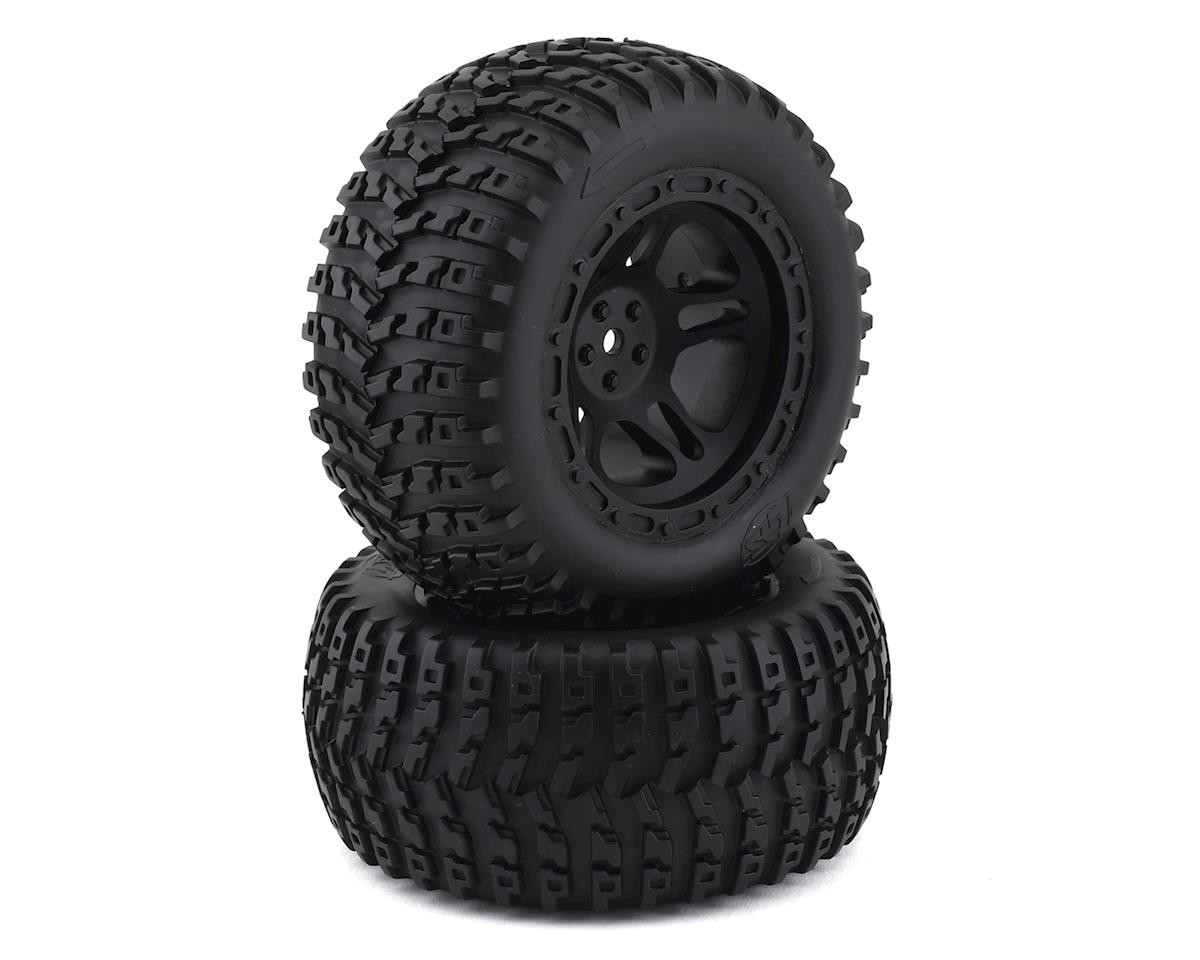 Losi 22S ST Pre-Mounted 1/10 Stadium Truck Tires (Black) (2)