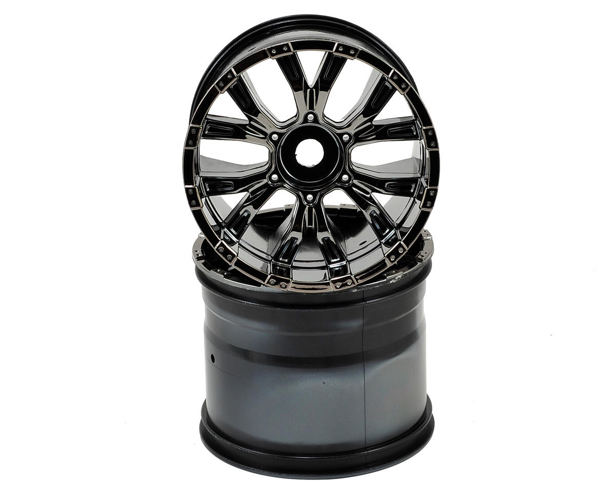 420S Force Wheel w/Cap (Black Chrome) (2) by Losi