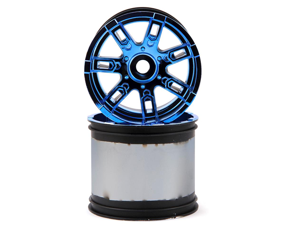 Losi Wheel, 17mm, Blue Chrome (2): LST 3XL-E