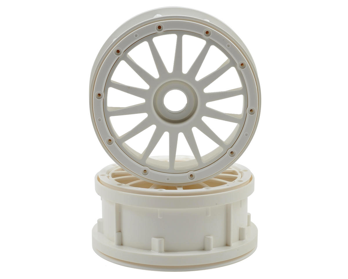 Wheel & Beadlock Ring Set (White) (2) by Losi