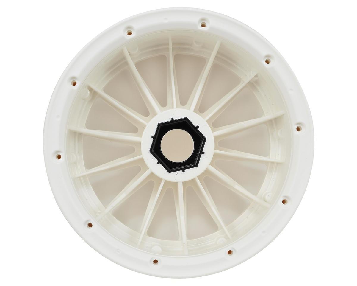 Losi Wheel & Beadlock Ring Set (White) (2)