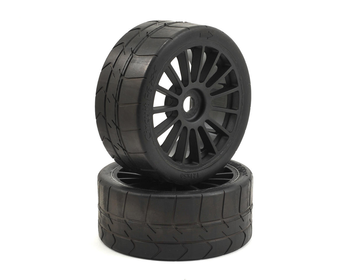 Losi 6IX Long Wear Pre-Mounted Tire Black Wheel (2)
