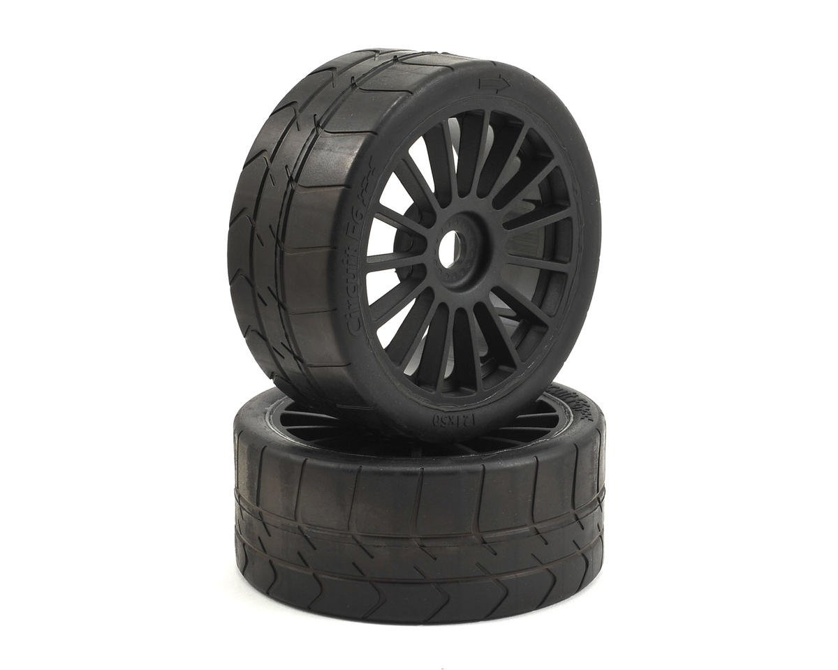 6IX Long Wear Pre-Mounted Tire Black Wheel (2) by Losi