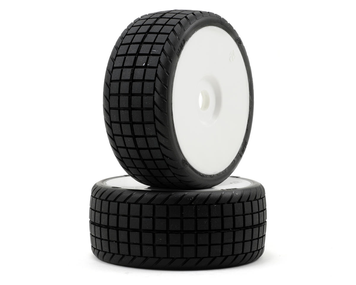 Losi DLM2 Pre-Mounted 1/8 Tires (2) (White)