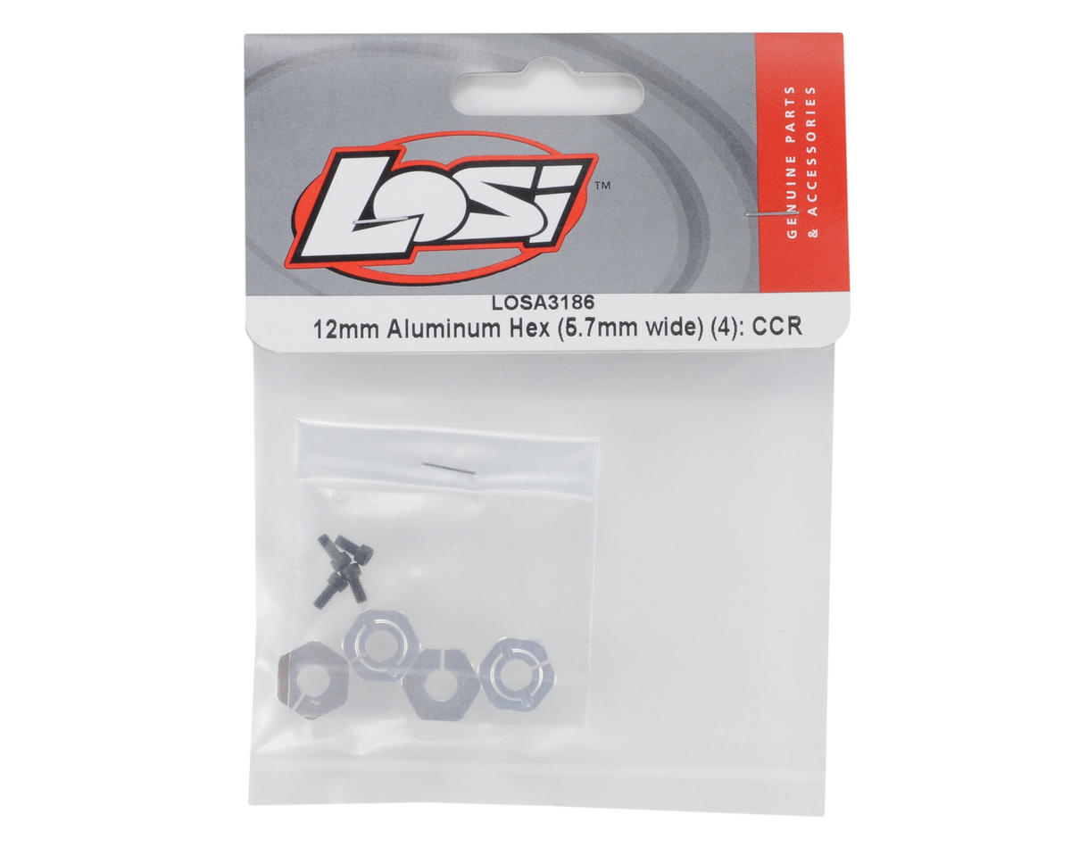 Losi 12mm Aluminum Wheel Hex (5.7mm wide) (4)