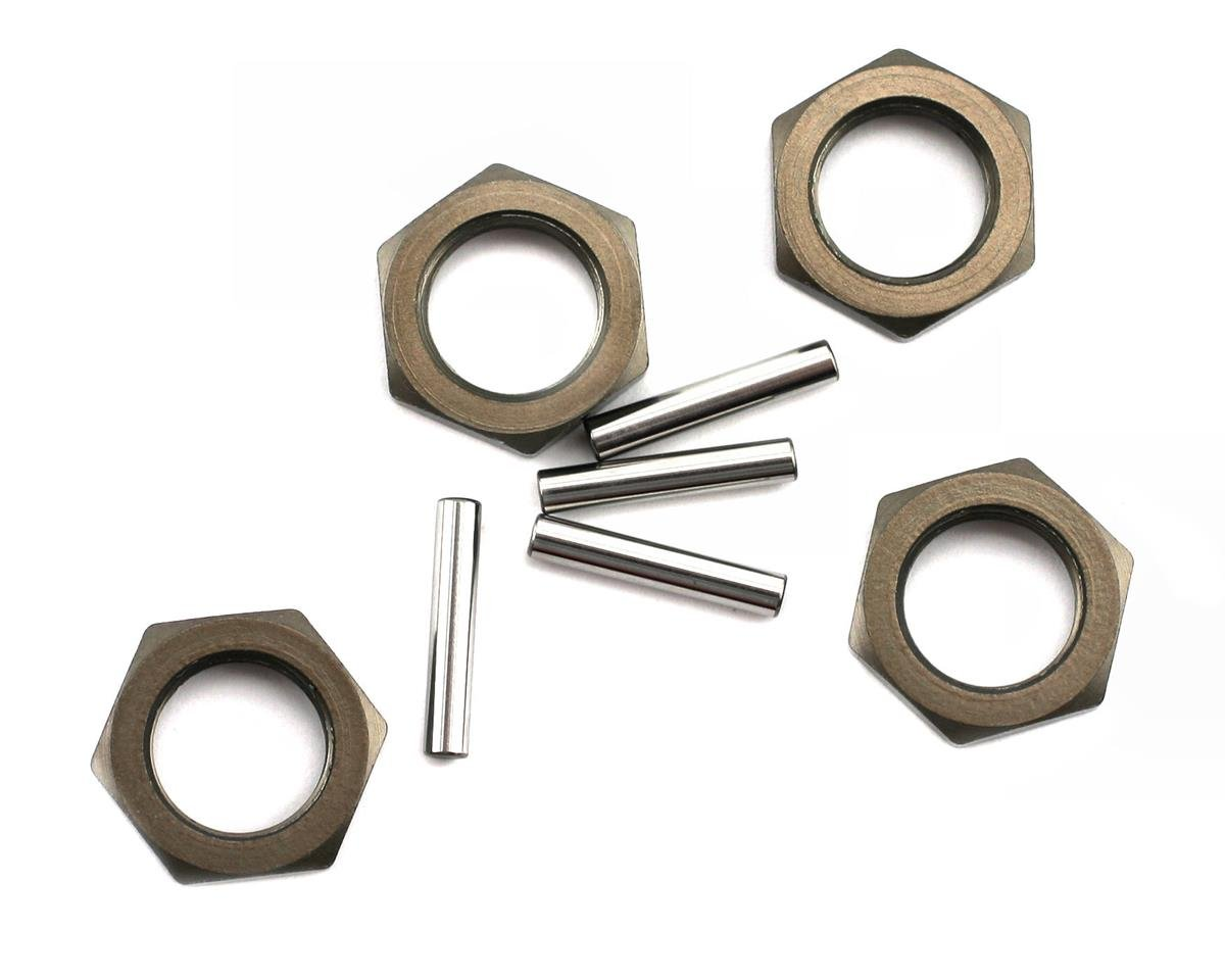 Hard Anodized Wheel Nuts & Pins (4) by Losi