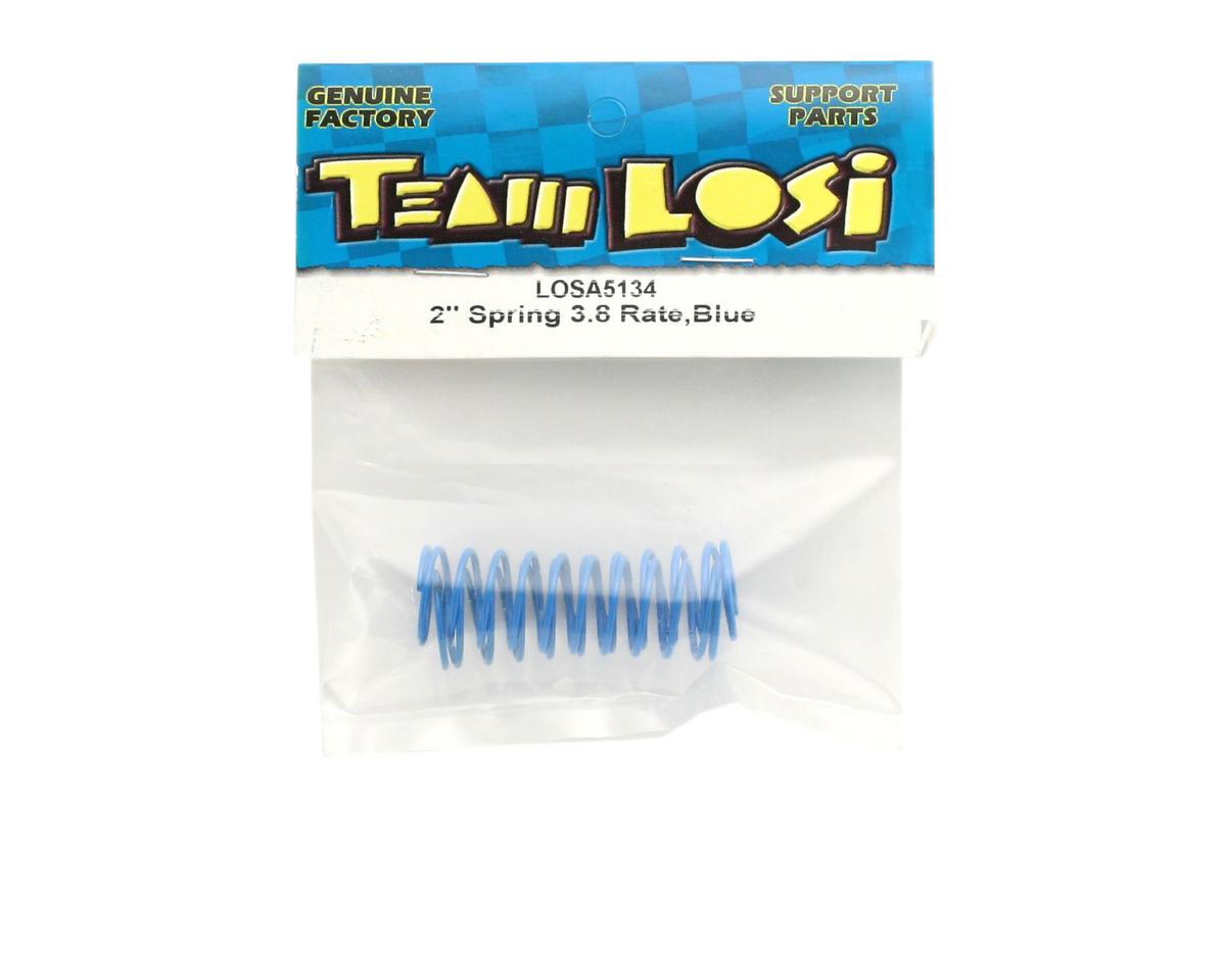 """Losi Shock Springs 2"""" x 3.8 Rate (Blue) (2)"""