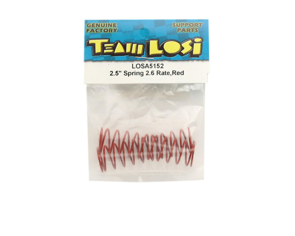 "Losi Shock Springs 2.5"" x 2.6 Rate (Red) (2)"