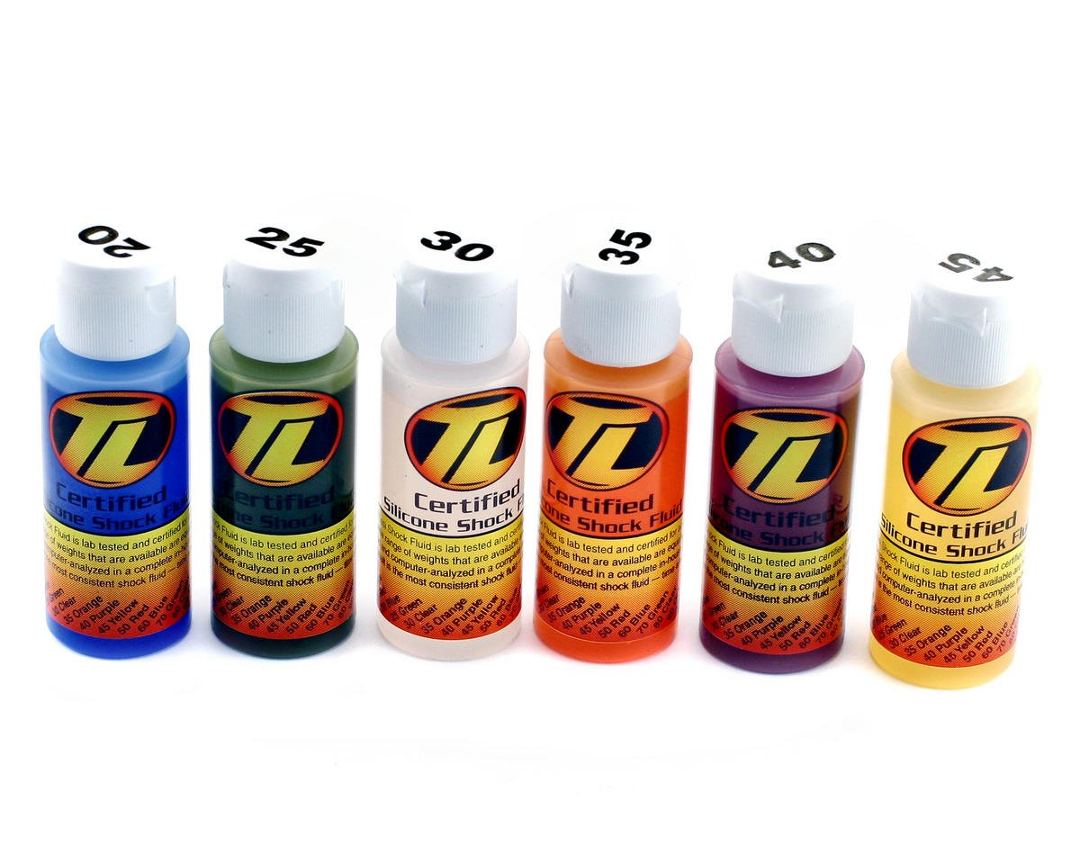 Losi Silicone Shock Oil Six Pack (20,25,30,35,40,45wt) (2oz)