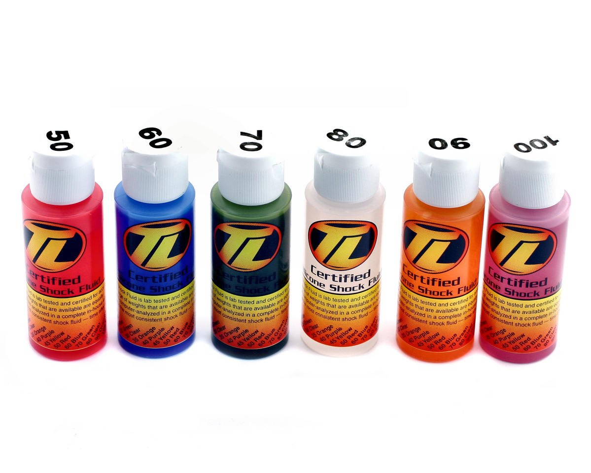 Losi Silicone Shock Oil Six Pack (50,60,70,80,90,100wt) (2oz)
