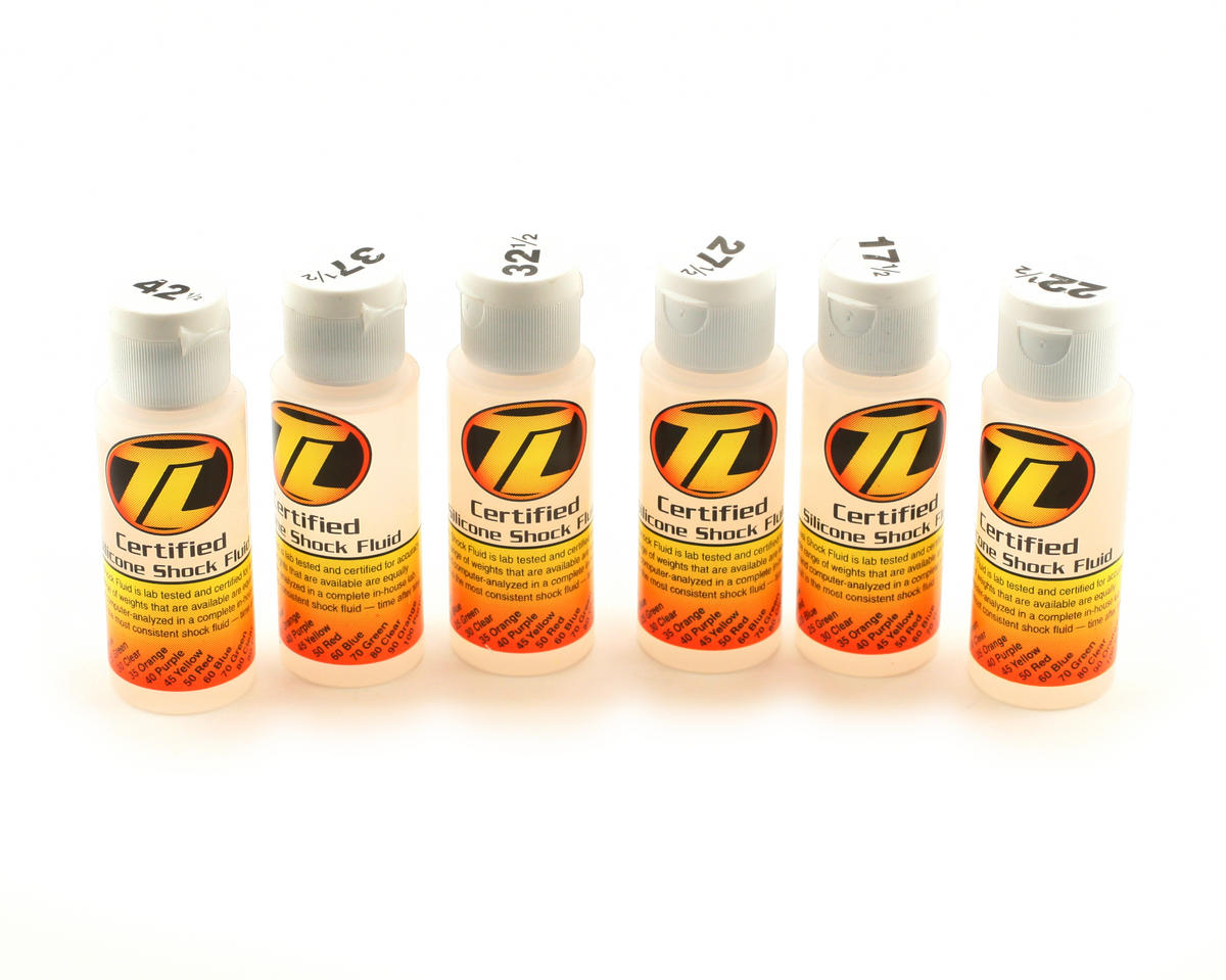 Losi Silicone Shock Oil Six Pack (17.5,22.5,27.5,32.5,37.5,42.5wt) (2oz)