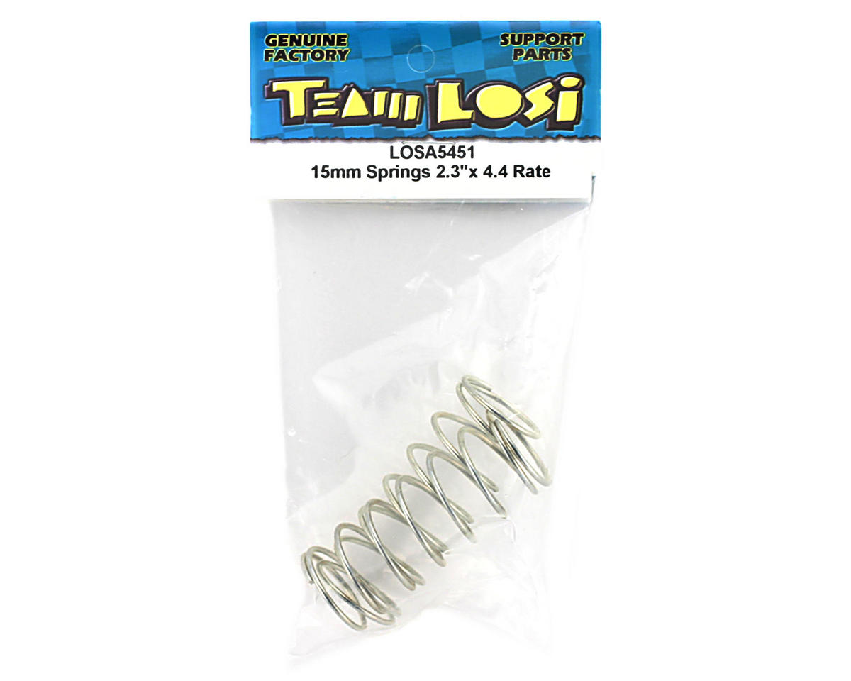 "Losi 15mm Springs 2.3""x4.4 Rate (Silver)"