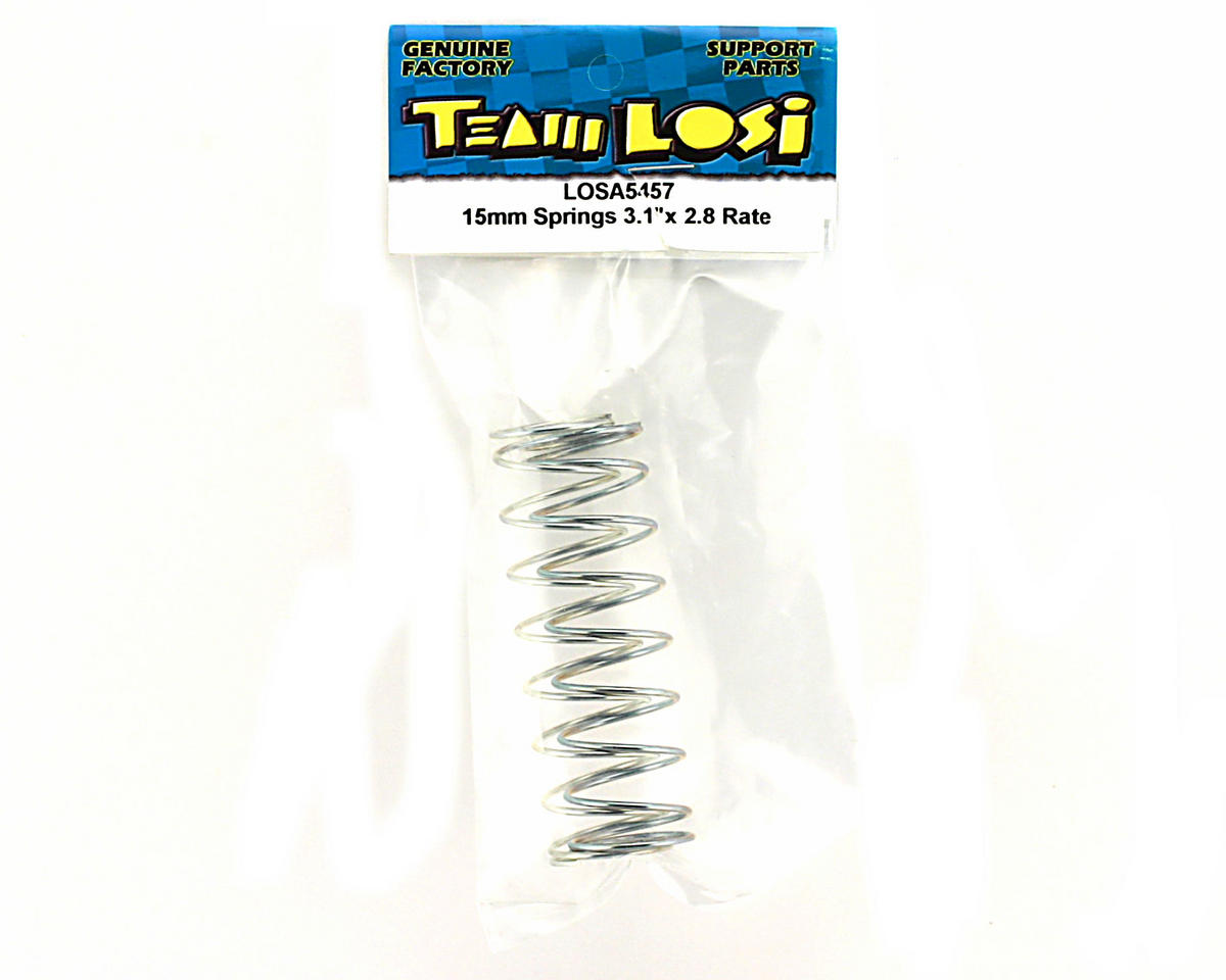 Losi 15mm Springs 3.1�x2.8 Rate (Silver)