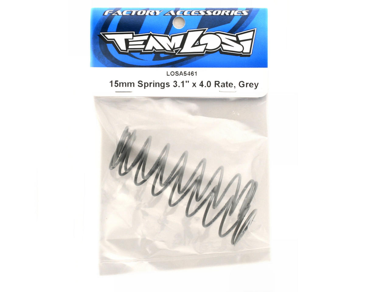 "Losi 15mm Springs 3.1x4.0"" Rate (Gray)"