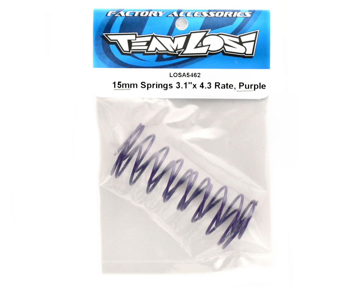 Losi 15mm Springs 3.1x4.3� Rate (Purple)