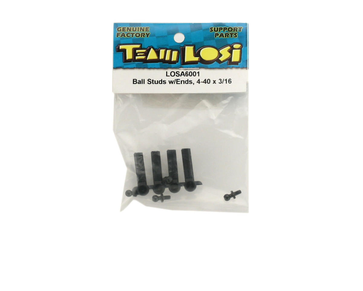 "Losi 4-40x3/16"" Ball Studs & Rod Ends (4)"