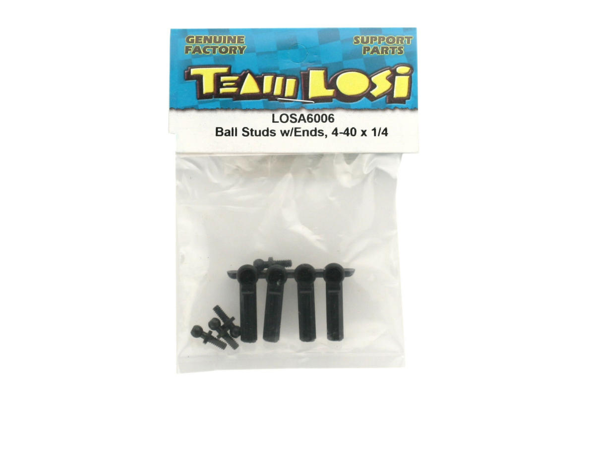 Losi Ball Studs With Ends, 4-40 x 1/4""