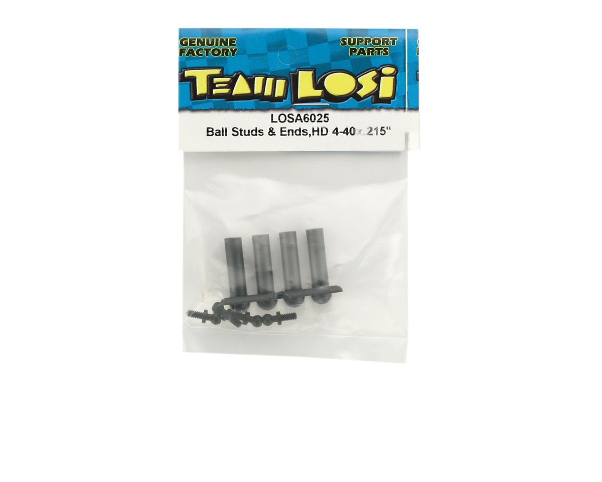 "Ball Studs & Ends Heavy Duty 4-40 x .215"" by Losi"