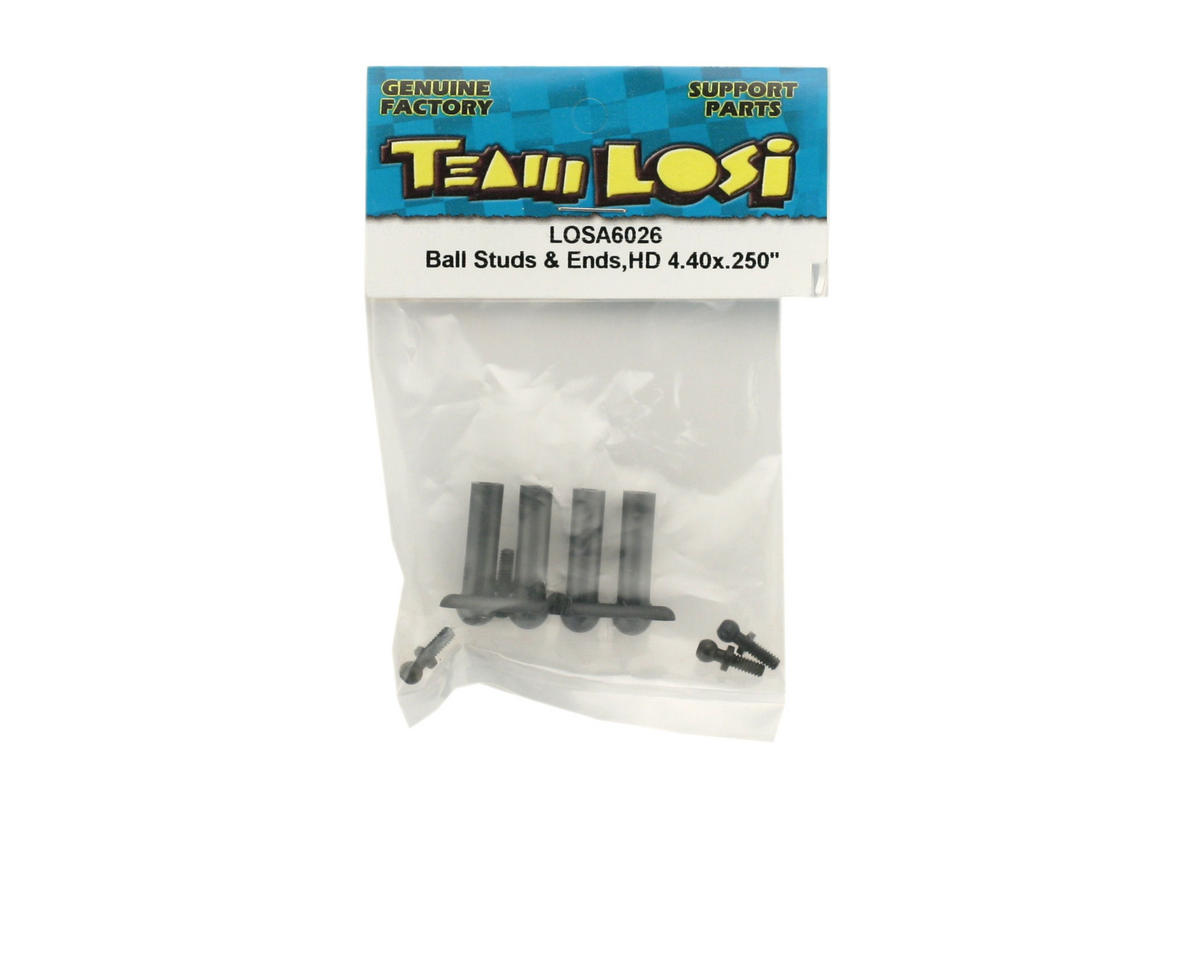 Losi Ball Studs & Ends Heavy Duty 4-40 x .250""