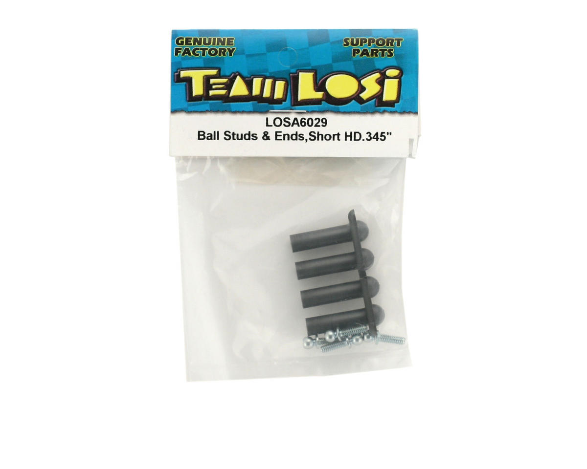 Losi Ball Studs & Ends, Short Neck Heavy Duty 4-40 x .345""