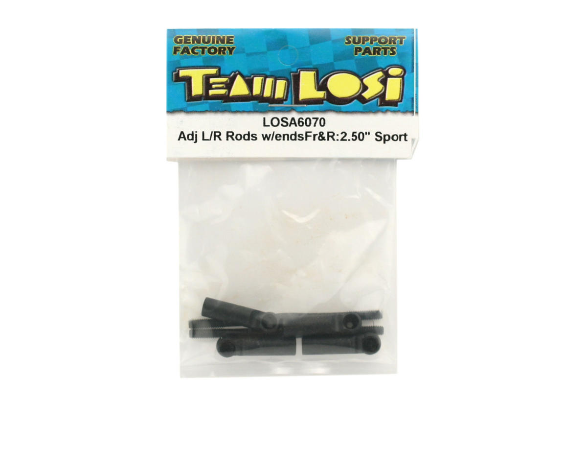 "Losi Rear Adjustable Left/Right Rods With Ends 2.50"" (Sport)"